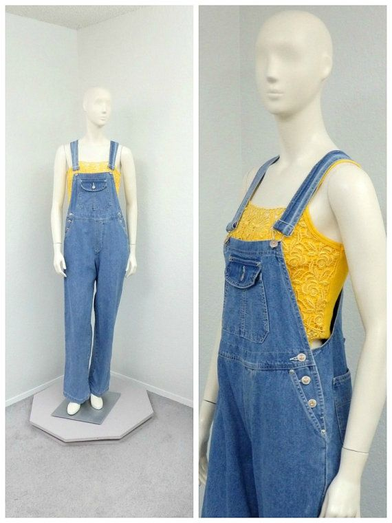 d8de1ebc6dd Vintage 90s ENUF Denim Overalls Dungarees Blue by SprightlyVogue