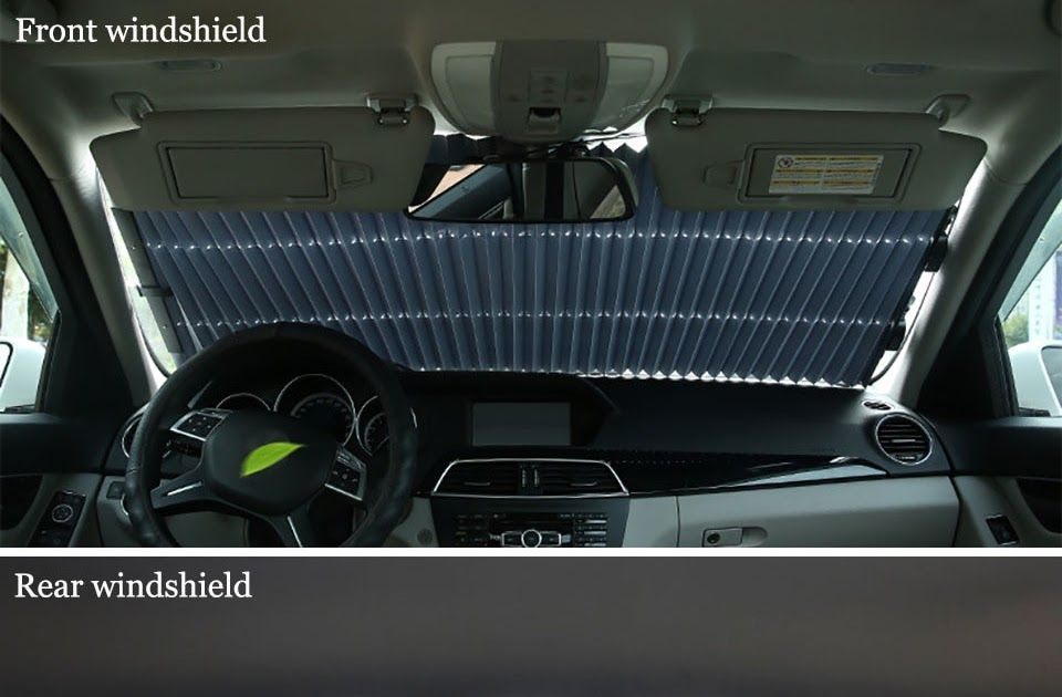 Free shipping 46/65/70 x 155CM Car Retractable windshield