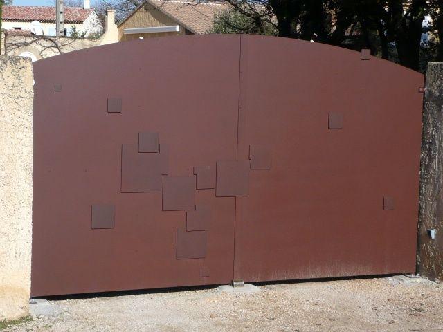 Resultado de imagem para portail fer forgé plein metalsul - portail de maison en fer