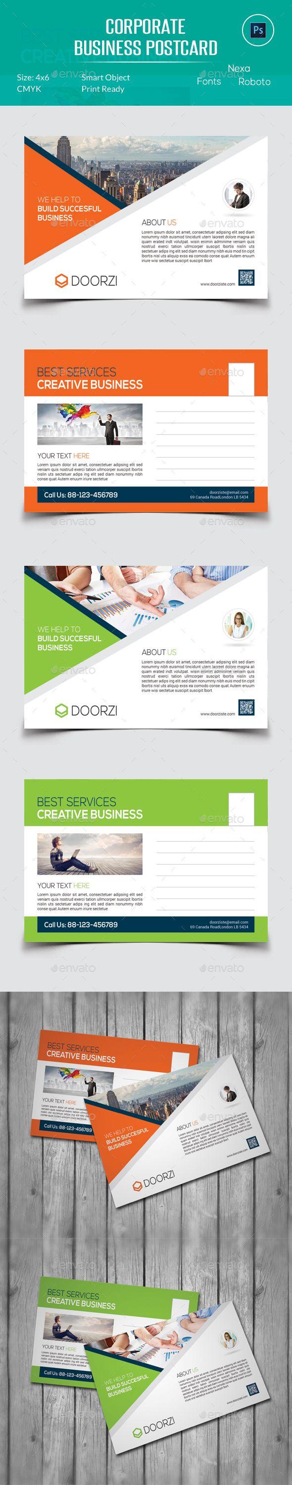 Corporate Business Postcard | Business postcards, Corporate business ...