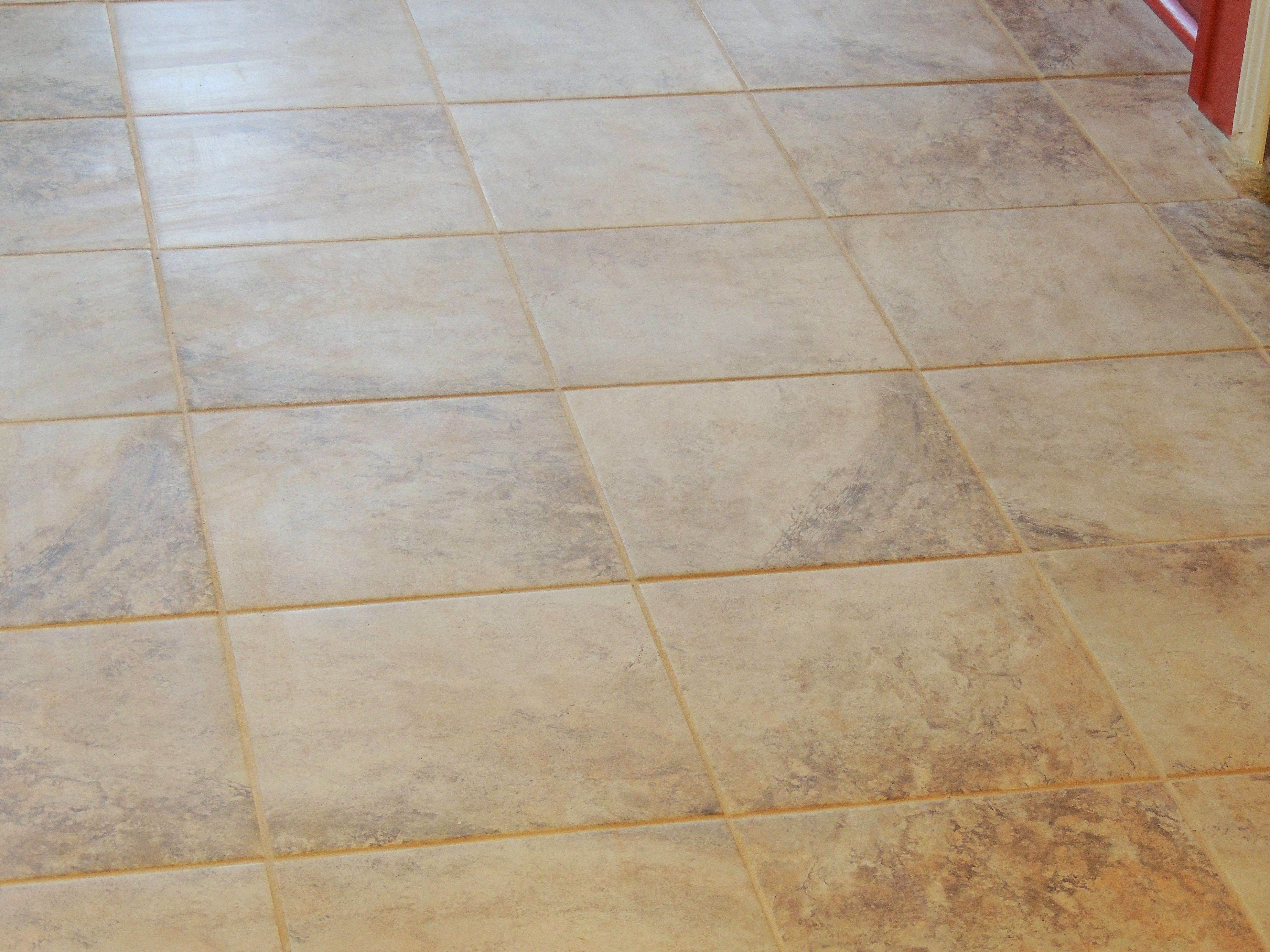 Ceramic Tile Mesa Beige From Lowes 12 With Mocha Grout