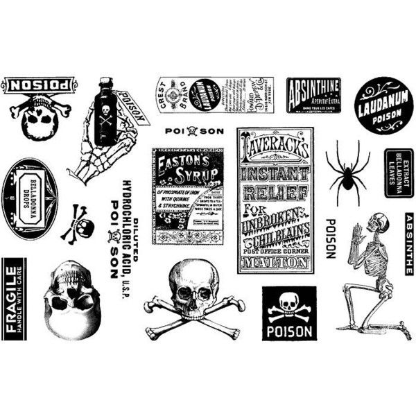Rubber Stamps: Halloween (€13) ❤ liked on Polyvore featuring home, home decor, halloween and halloween home decor