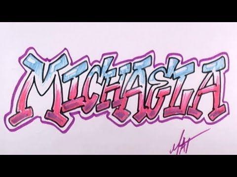 Graffiti Writing Michaela Name Design