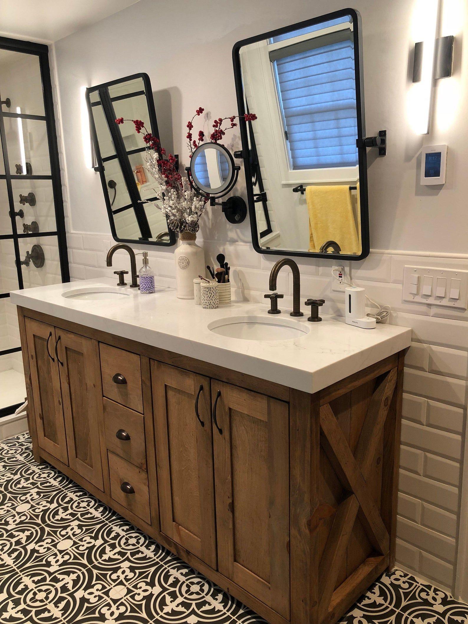 custom bathroom vanity etsy in 2020 custom bathroom on custom bathroom vanity plans id=17178