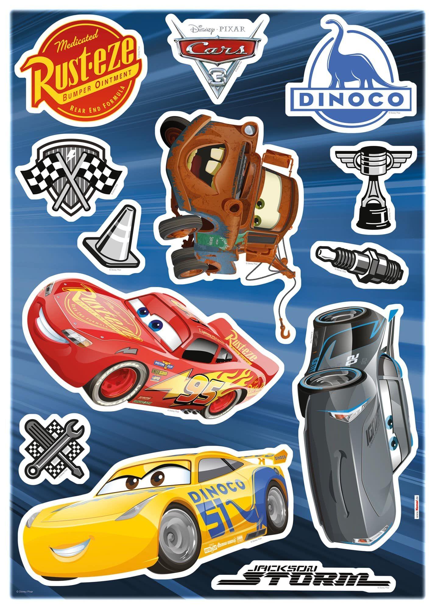 Disney Cars Wandtattoo Kinderzimmer - Cars 3 - Komar Deco-Sticker ...