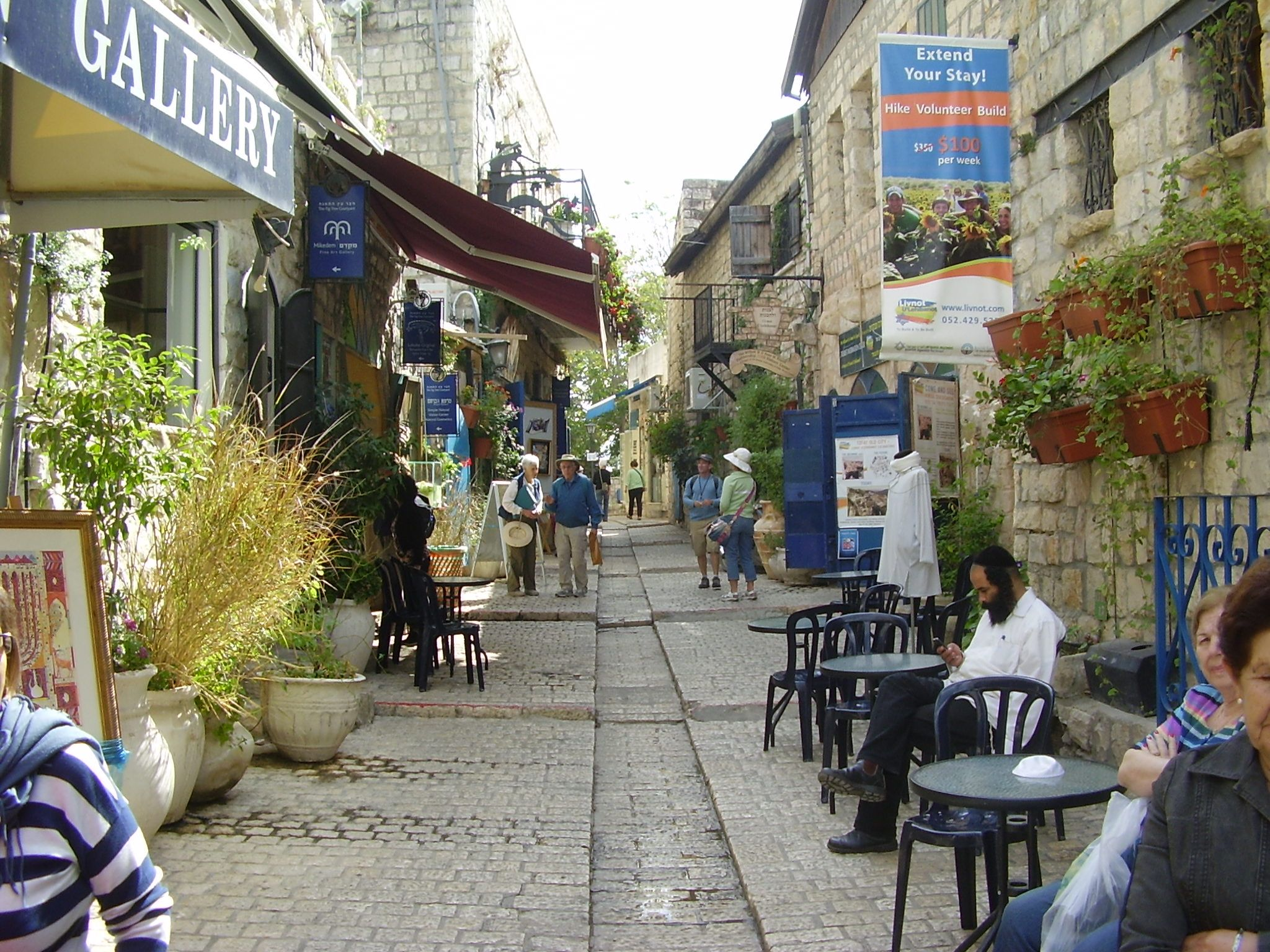 Alley In The Old City Of Safed Tzfat Editorial Stock Image