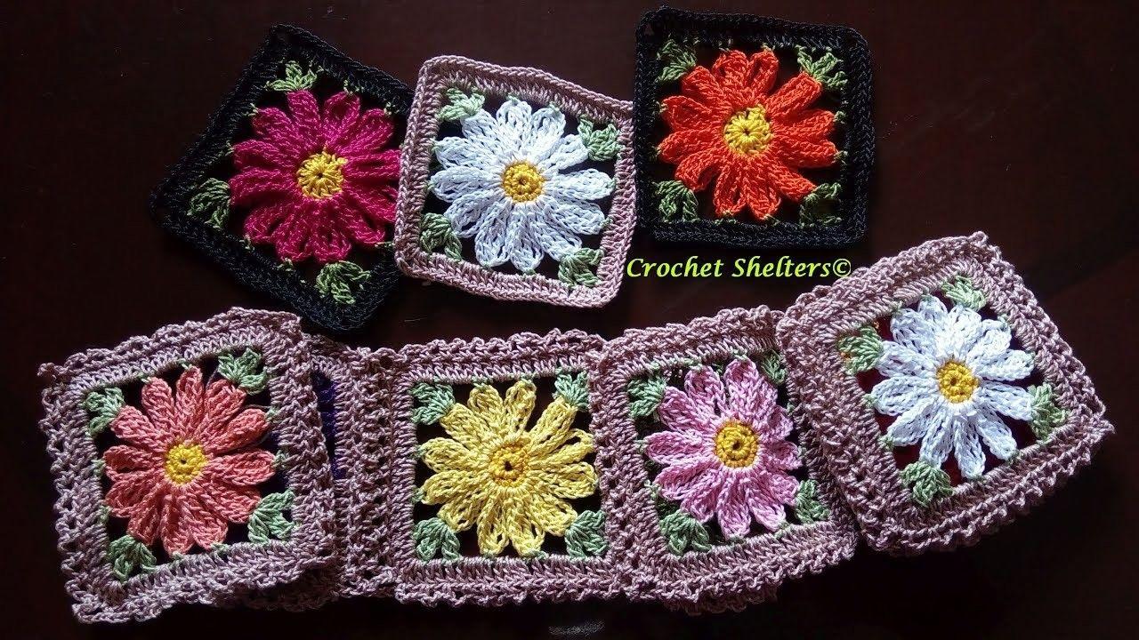 How to crochet daisy flower granny square floral granny square 1 how to crochet daisy flower granny square floral granny square 1 izmirmasajfo