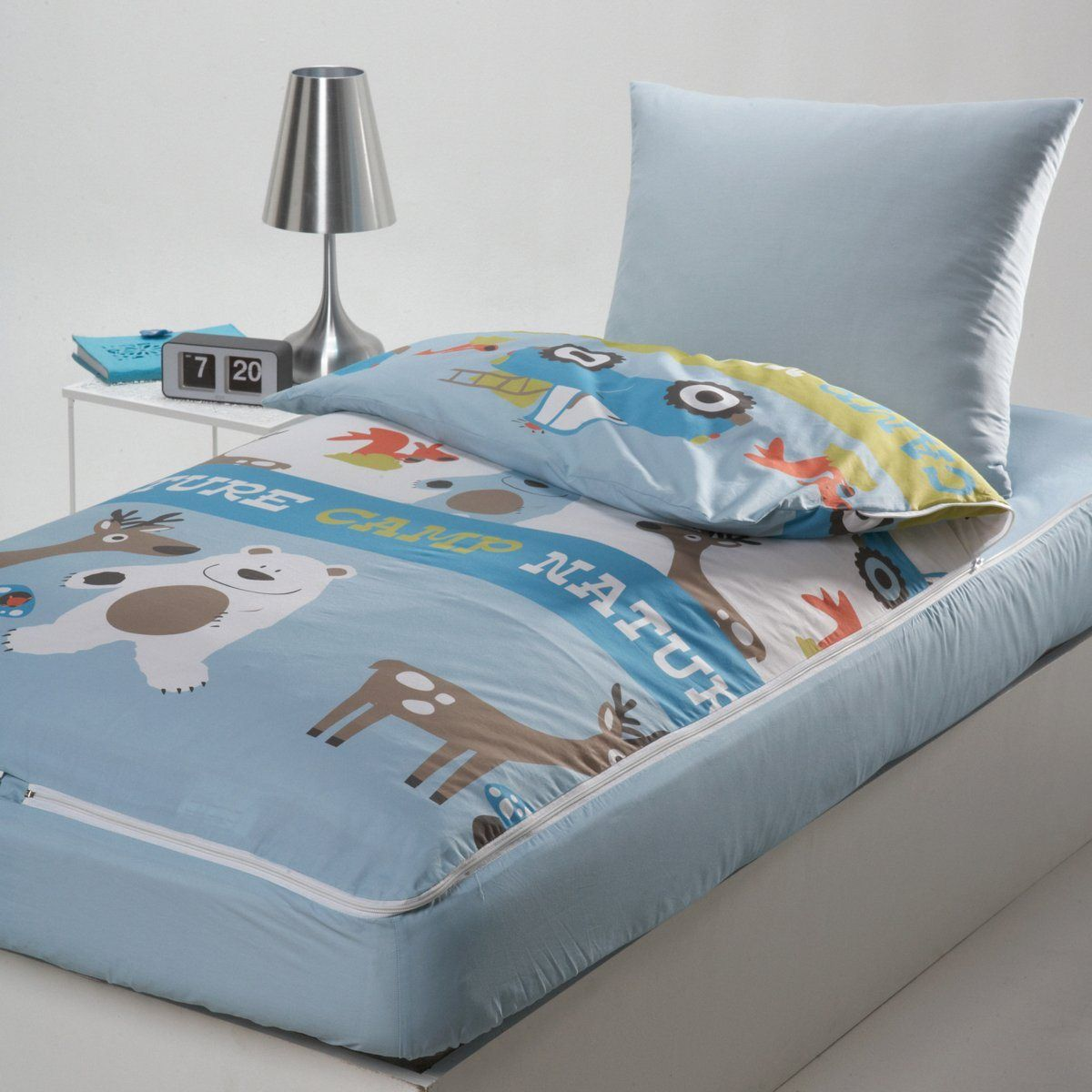 Conjunto com edredon pronto a dormir nature camp la for Housse couette la redoute