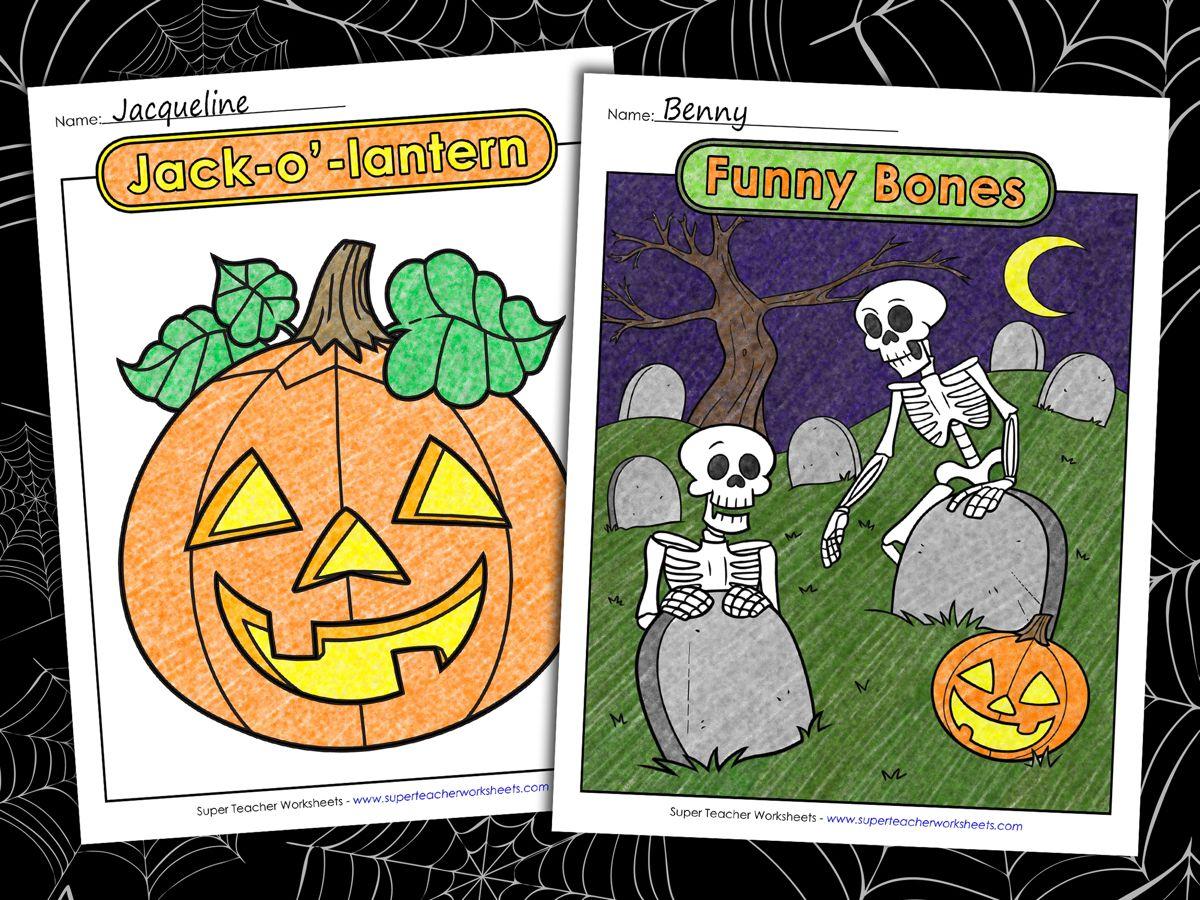 Superteacherworksheets Collection Of Printable Halloween Coloring Pages Feature Pumpk Halloween Coloring Halloween Coloring Pages Super Teacher Worksheets [ 900 x 1200 Pixel ]