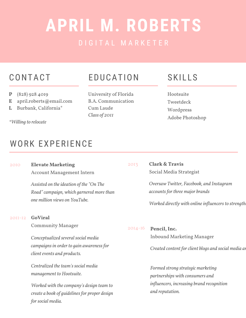 5 Design Hacks to Boost Your Resume Game Online writing
