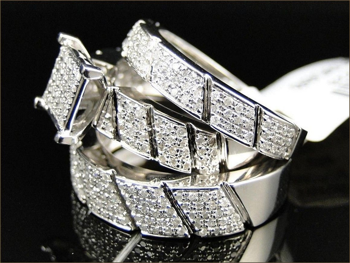 stylish and cheap wedding rings sets for him and her | couples