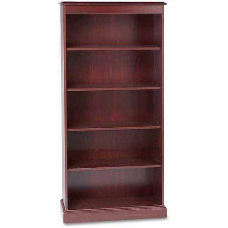 HON 94000 Series 5-Shelf Bookcase, Mahogany, Brown