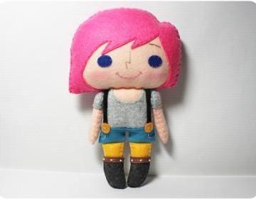 Pinky Girl - Doll Pattern, Felt Dol..