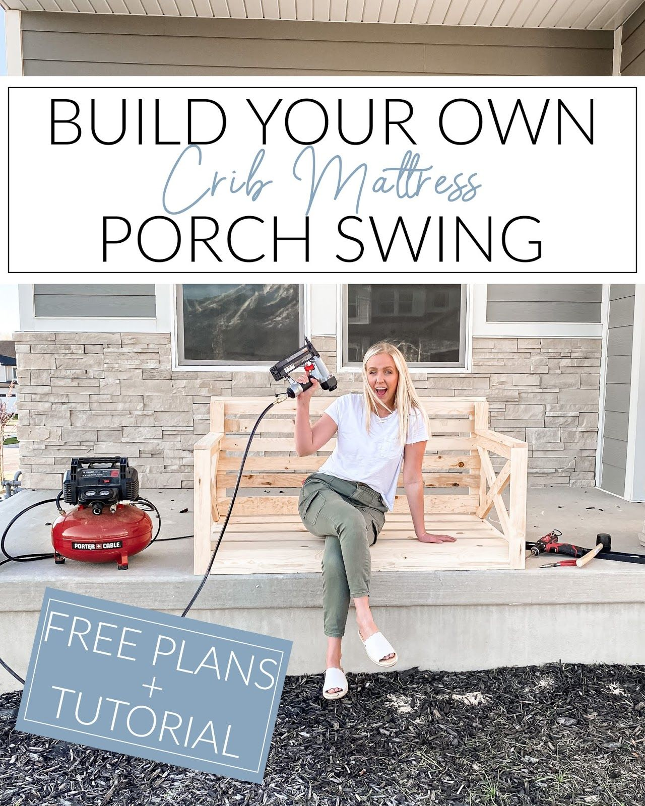 Hunters Of Happiness Build Your Own Crib Mattress Porch Swing In 2020 Porch Swing Diy Porch Swing Diy Porch Swing Plans