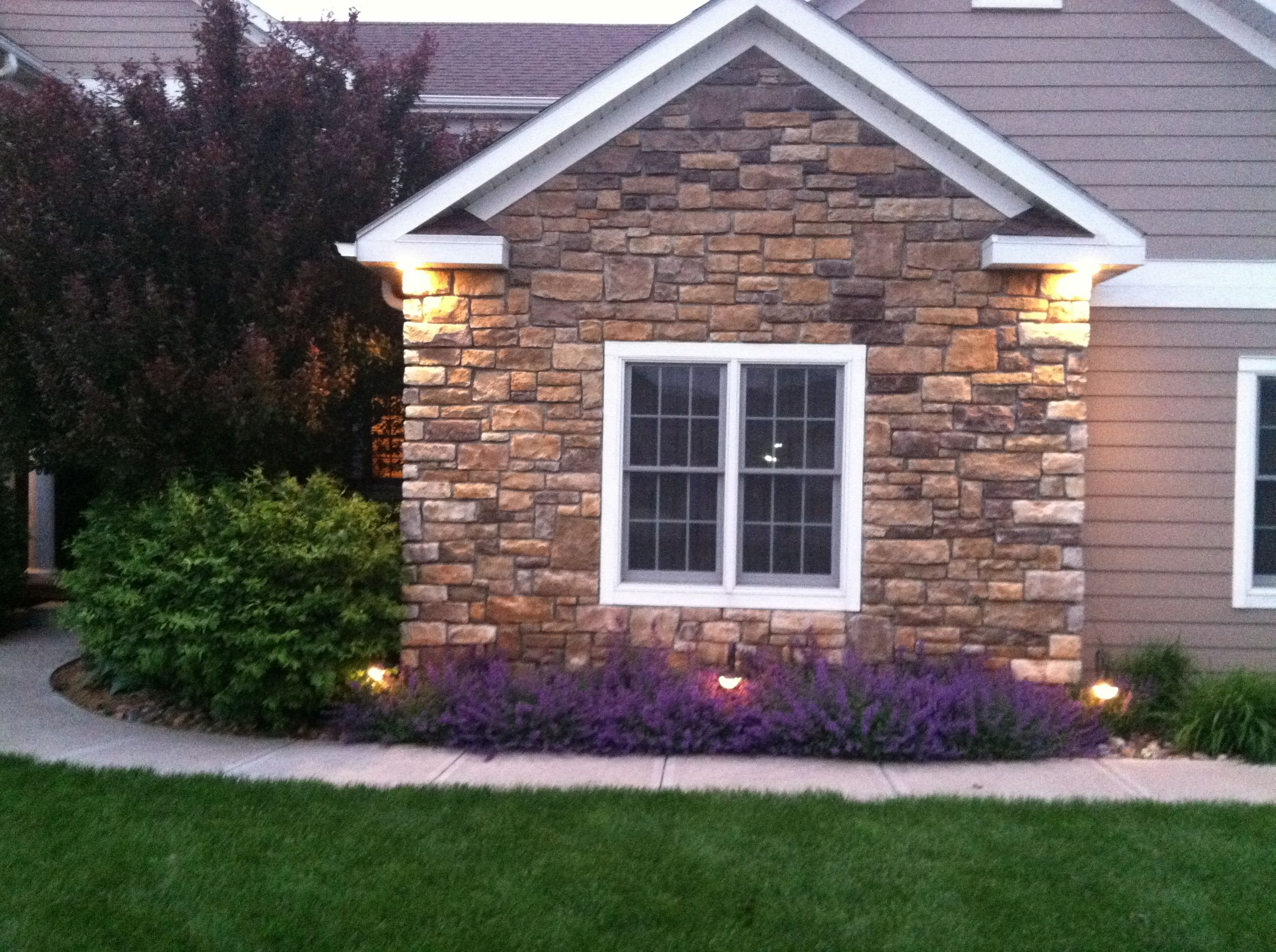 Stone Front House landscaping catmint, stone house front | house ideas | pinterest