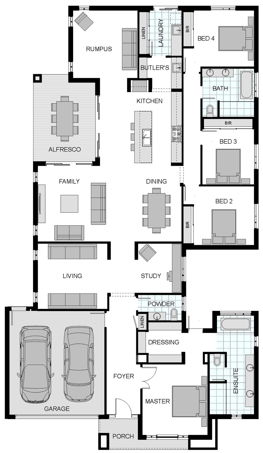 Mayfair jg king flip master lounge pip 39 s room shuffle for Lounge room floor plans
