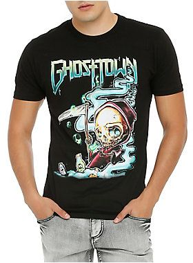 c56d5b501 Ghost Town T-shirt with a reaper design. dry low Imported Listed in men s  sizes
