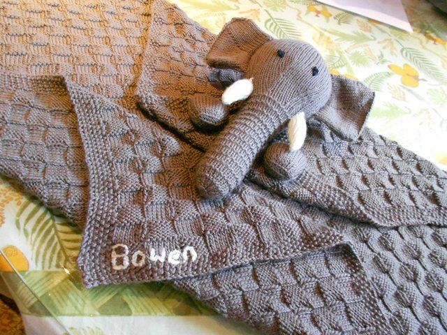 Knitted Elephant Baby Blanket Knitting Patterns