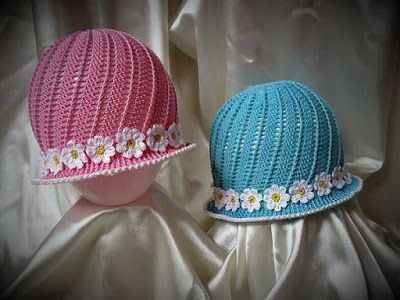 Delicadezas en crochet Gabriela: Sombrero de niña con patrones