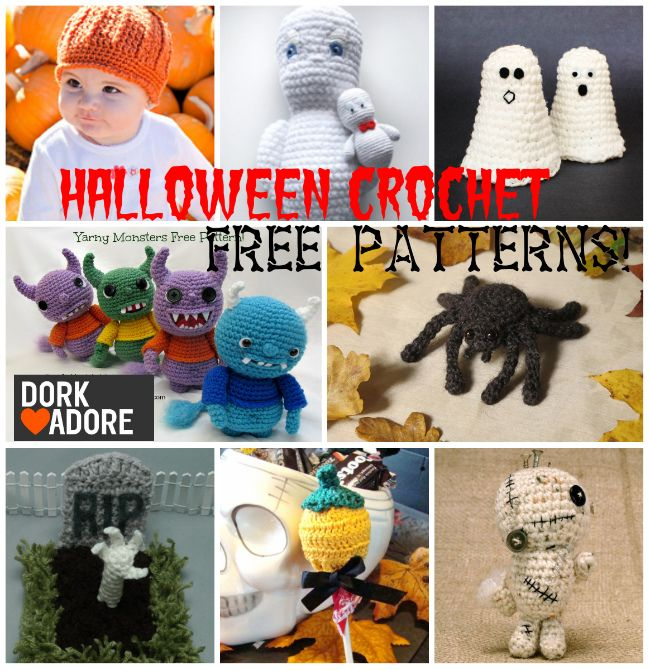 A collection of free Halloween crochet patterns. | Autumn Craft ...