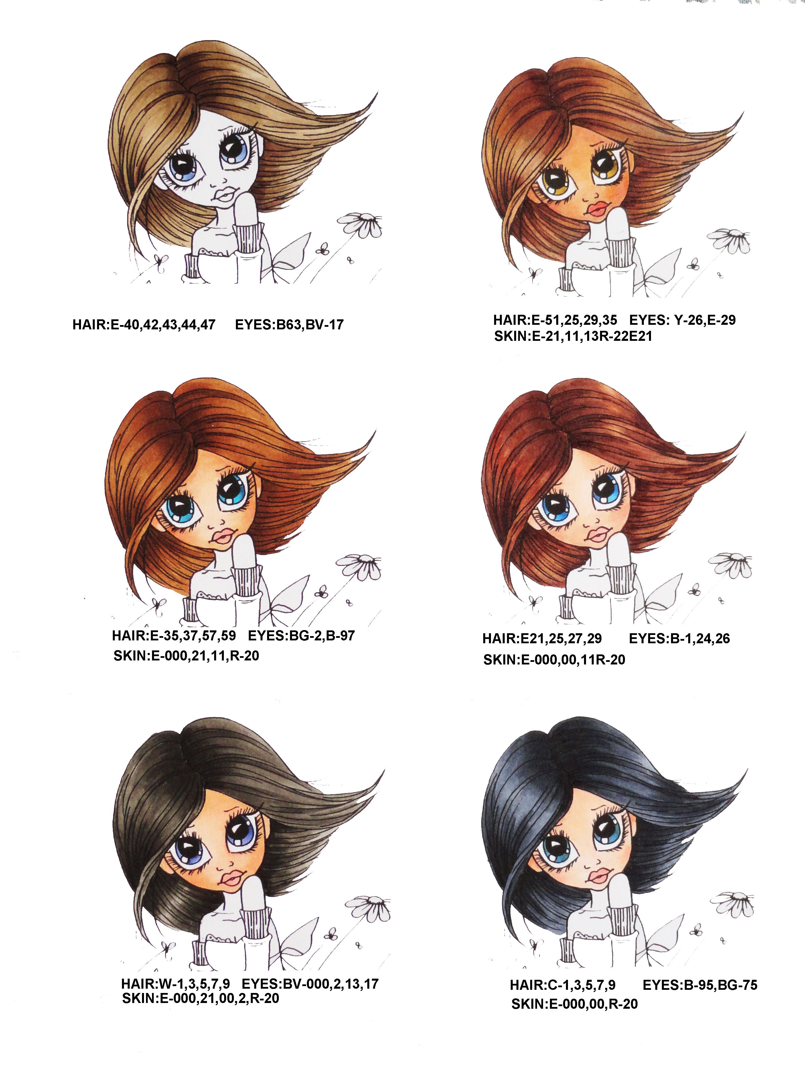Hair And Skin Colors Using Copic Markers Here Are A Few