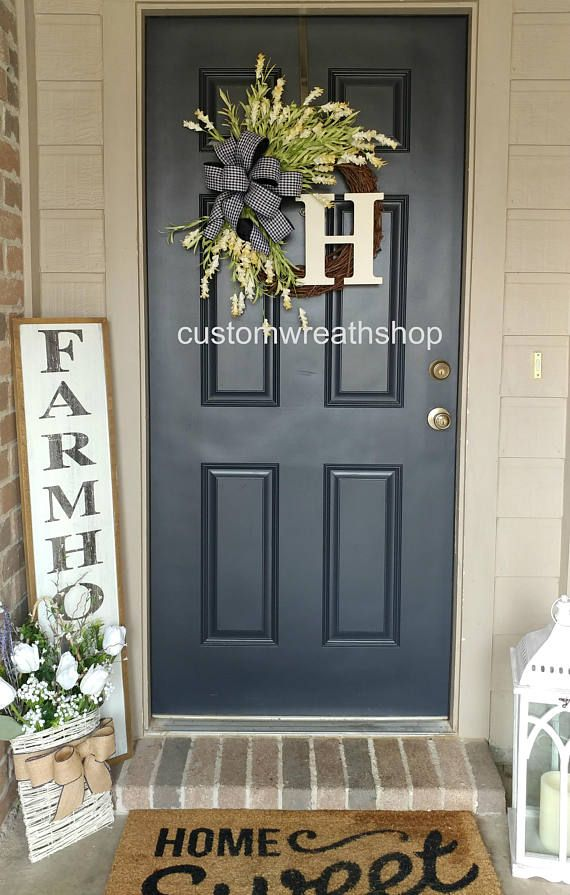 Farmhouse Wreathcountry Wreathfront Doorwreathgrapevine Wreath