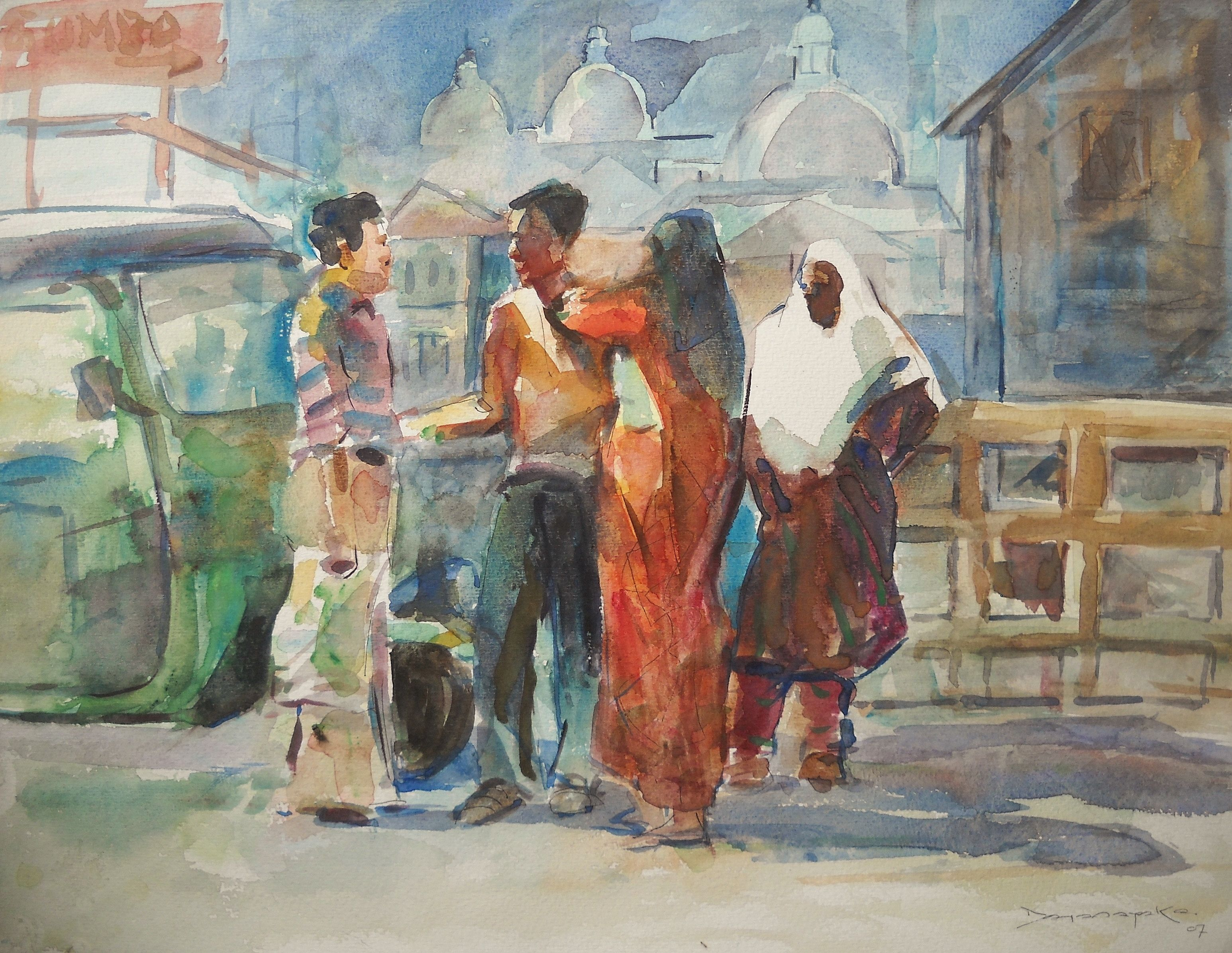 Discussion Zilpa Gallery Watercolorpaintings Srilanka