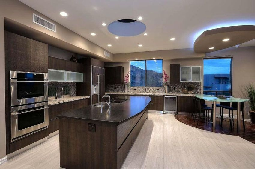 35 Luxury Kitchens With Dark Cabinets Design Ideas Dark Brown Cabinets Dark Brown Kitchen Cabinets Brown Cabinets