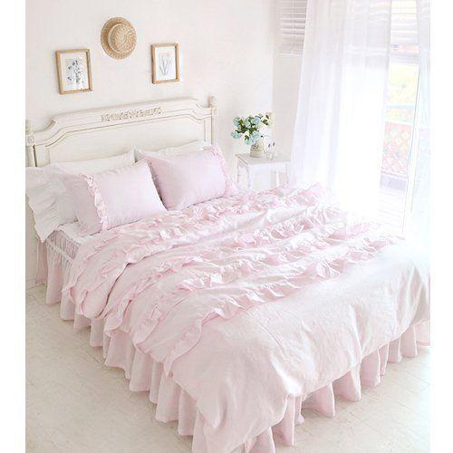 Pink Princess Wedding Bed Set Korean Romantic Ruffle Duvet Cover Bedding Set Rural Queen Size Girls Bed in a Bag 4Pcs DIAIDI http://www.amazon.com/dp/B00CGXQVUC/ref=cm_sw_r_pi_dp_SGI.vb1CKKD9F