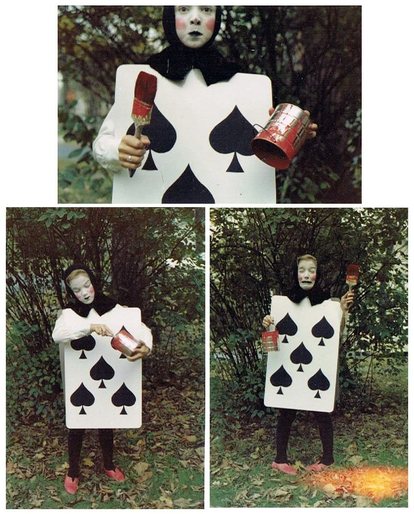 My Late Aunt S Creative Halloween Costume Dressed As A Playing Card From Alice In Wonderland In The Early 60s Alice In Wonderland Costume Card Costume Alice In Wonderland Diy