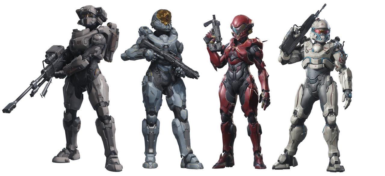 The Ladies Of Halo 5 Guardians Linda 058 The Halo Team Blue Halo Armor