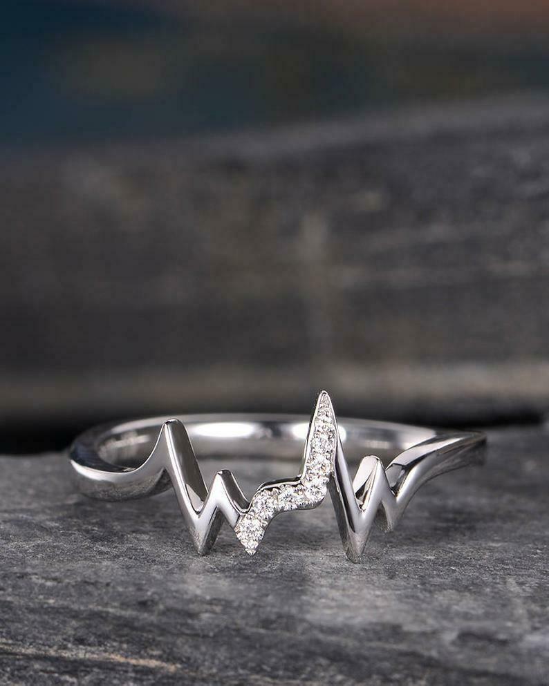 Engagement Ring Solitaire 3.00Ct Round VVS2 Diamond 14k White Gold Finish
