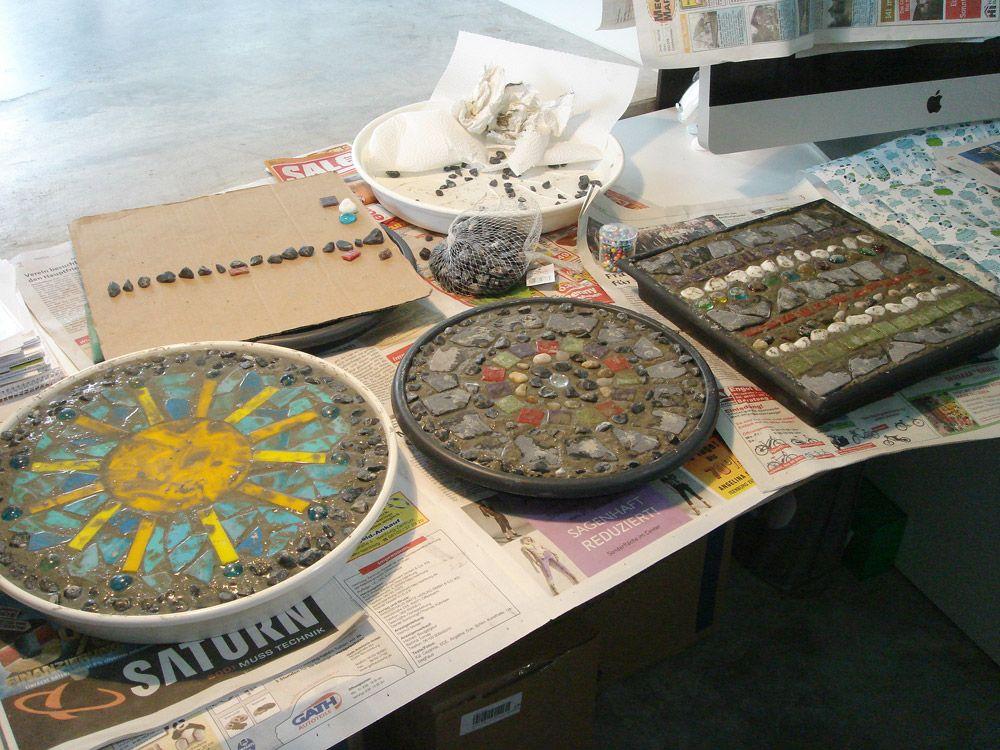 trittsteine Mosaik und beton Pinterest Trittsteine, Mosaik - trittplatten selber machen