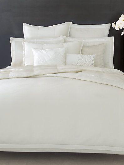 Donna Karan Modern Classics Duvet Coverwhite Gold Sakscom - Donna-karans-modern-classics-bedding-collection