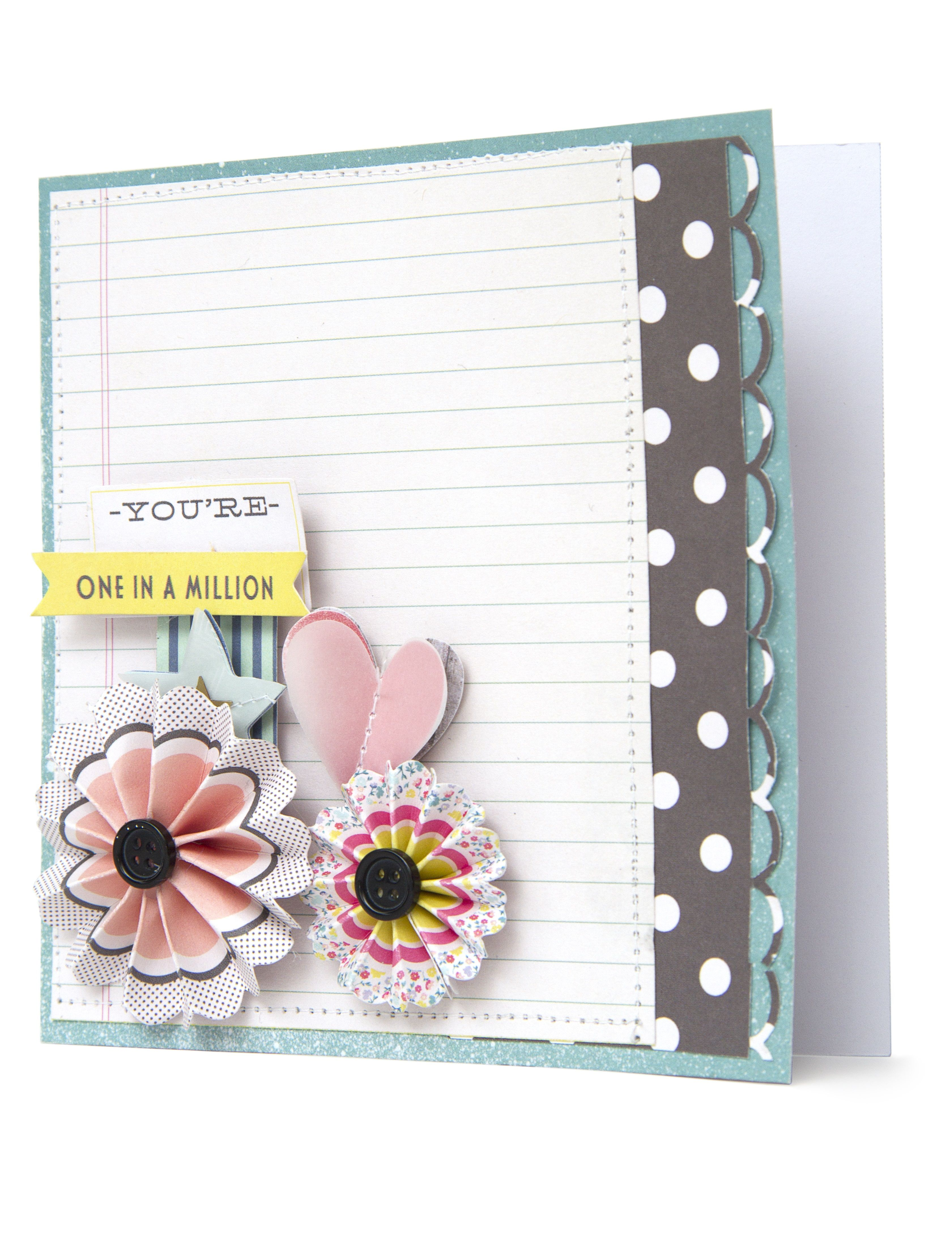 Cute card idea made from our dear lizzy polka dot party collection