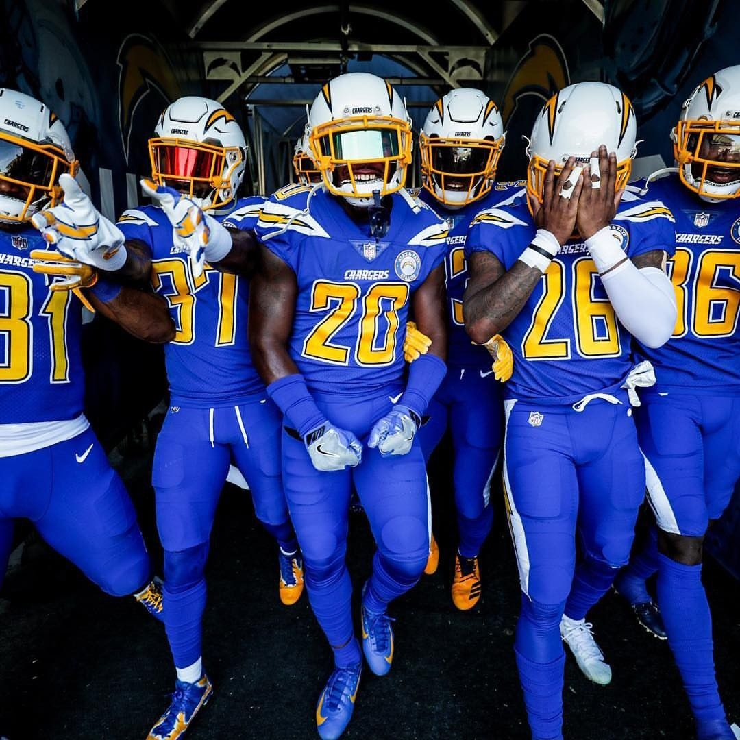 Los Angeles Chargers Color Rush Uniforms Chargers Football College Football Uniforms Nfl Football Pictures