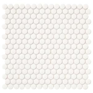 Merola Tile Galaxy Penny Round Ash 11 1 4 In X 11 3 4 In X 9 Mm Porcelain Mosaic Tile Wshgpras T Mosaic Wall Tiles Penny Round Mosaic Porcelain Mosaic Tile