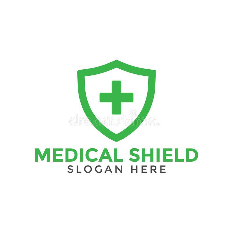 Green Medical Cross Shield Logo Icon Design Template Vector Illustration Medical Logo Design Design Template Logo Icons