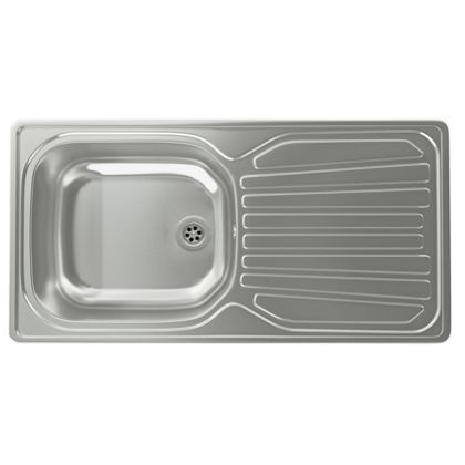 Carron Phoenix Precision Plus 90 Compact 1 Bowl Stainless Steel Kitchen Sink At Homebase