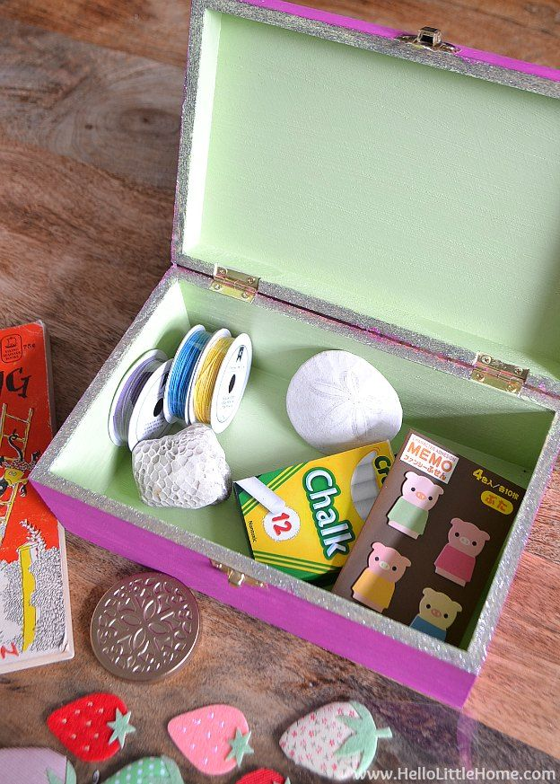 Diy kids treasure box kids gift guide