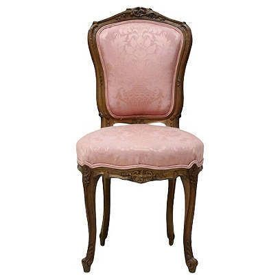 Best Blush Pink One Kings Lane Walnut Chair Accent Chairs 640 x 480