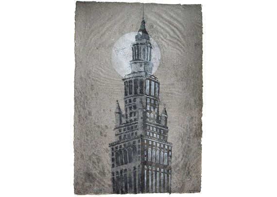 Terminal Tower No 11 Cleveland Handmade Abaca And Linen Pulp