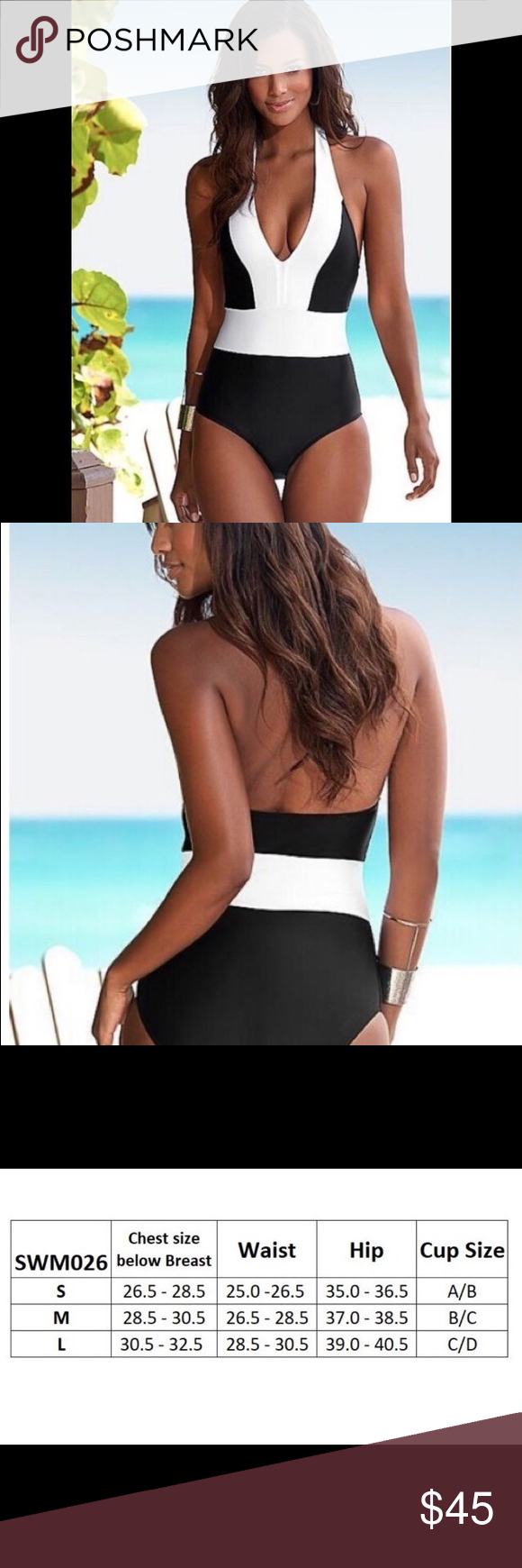 d870c937db746 🎉HP🎉SEXY BLACK/ WHITE ONE PIECE BATHING SUIT 🎉HOST PICK 🎉BEST IN ...