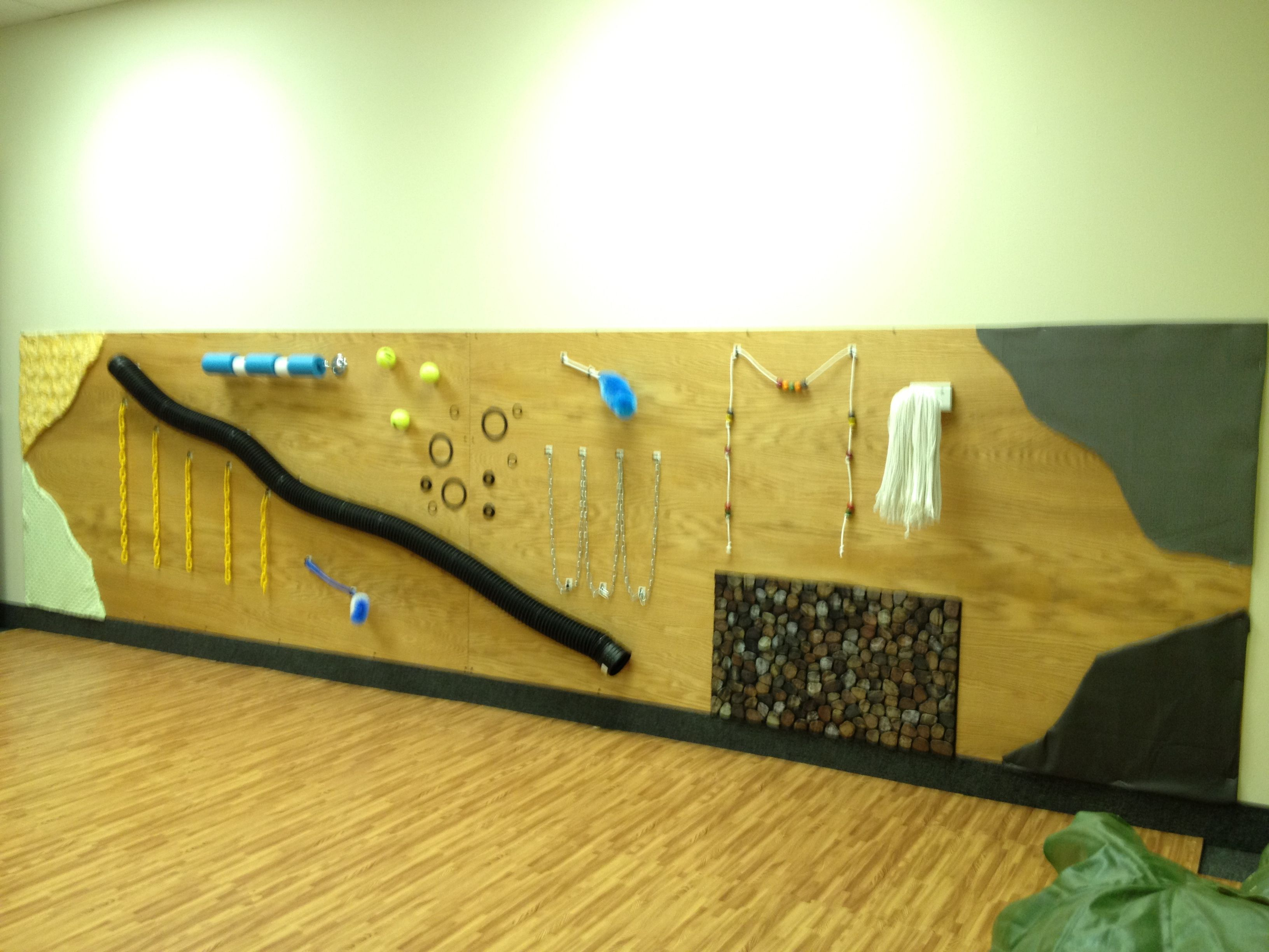 Sensory: Example of a sensory wall at a church. All items are ...