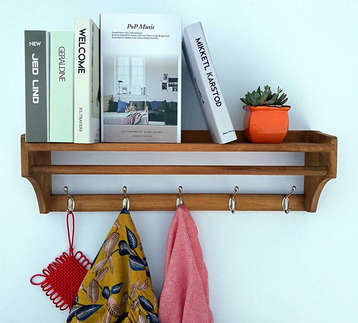 Awe Inspiring Wood Coat Rack Wall Shelf Shelf And Bookcase In 2018 Interior Design Ideas Clesiryabchikinfo