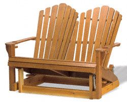 Adirondack Loveseat Glider Wood Plan There S Room For Two To Relax In This Comfortable Rockersglider Chairadirondack