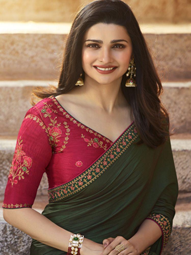 Saree sari Designer Indian Traditional Wear Women  Ethnic Bollywood New Blouse