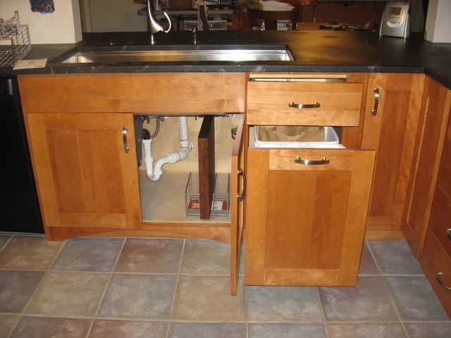 Stages 45 sink, trash pull out, offset faucet   Theresa Ave ...