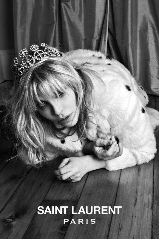 Courtney Love Image of Saint Laurent Premieres its New Music Project