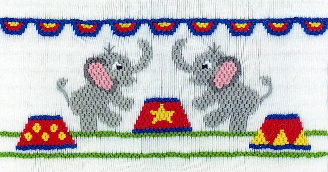 Circus Elephants - The Sewing Basket Inc.
